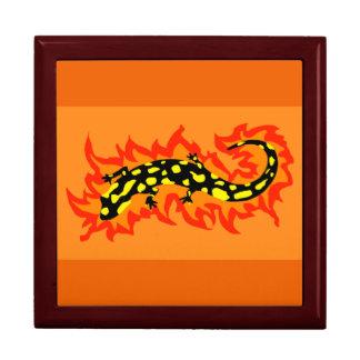 Salamander Flaming Jewelry Box