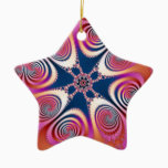 Salamander - Fractal Art Ceramic Ornament