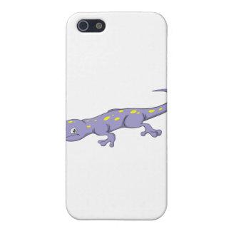 Salamander manchado sonriente iPhone 5 carcasas