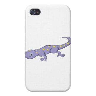 Salamander manchado sonriente iPhone 4 coberturas