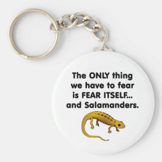Salamanders del miedo sí mismo llavero redondo tipo pin