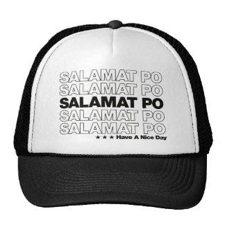 "Salamat Po ""Thank You"" Grocery Bag Design - Black Trucker Hat"