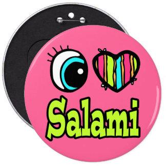 Salami brillante del amor del corazón I del ojo Pin