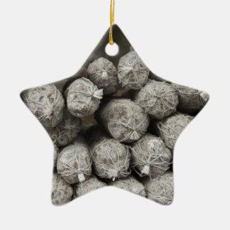 Salami italiano adorno de cerámica en forma de estrella