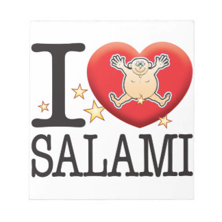 Salami Love Man Notepad