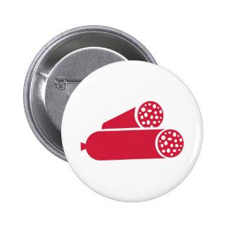 Salami sausages 2 inch round button