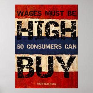 Salarios altos poster