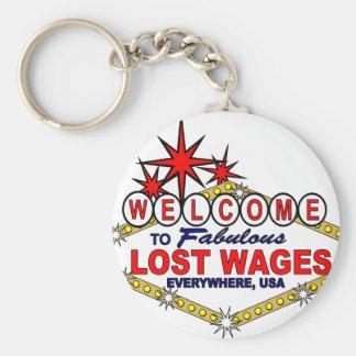 Salarios perdidos POR TODAS PARTES Llaveros