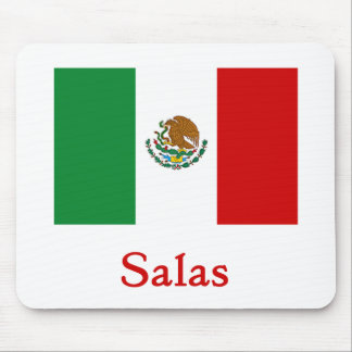 Salas Mexican Flag Mouse Pad