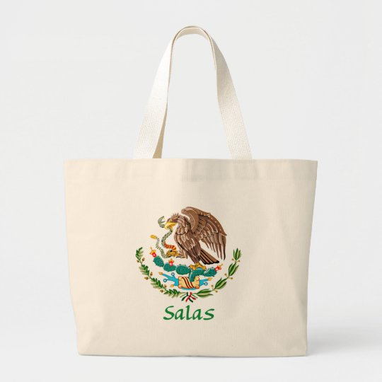 Salas Mexican National Seal Large Tote Bag