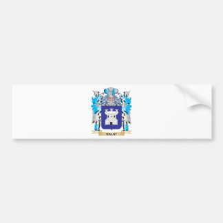 Salat Coat of Arms - Family Crest Car Bumper Sticker