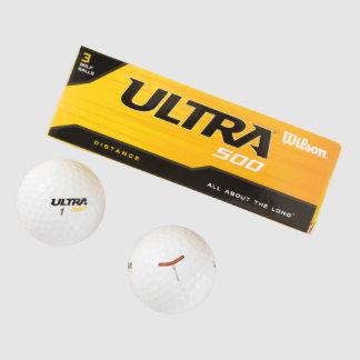 salchicha asada a la parrilla pack de pelotas de golf