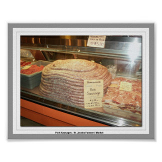 Salchicha de cerdo - el mercado de los granjeros d póster