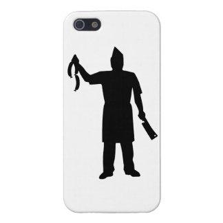 Salchicha de la cuchilla del carnicero iPhone 5 carcasas