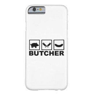 Salchicha de la cuchilla del cerdo del carnicero funda de iPhone 6 barely there