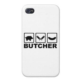 Salchicha de la cuchilla del cerdo del carnicero iPhone 4 carcasa