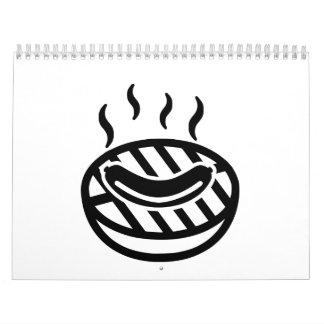 Salchicha del Bbq de la parrilla Calendarios De Pared