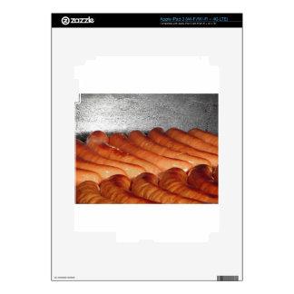 Salchichas cocidas rojo delicioso en fila iPad 3 skin