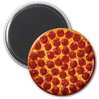 Salchichones de la pizza imán redondo 5 cm