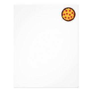 Salchichones del salami de la pizza membrete