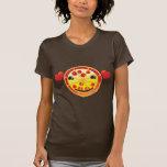 ¡salchichones lindos de la pizza! camisetas