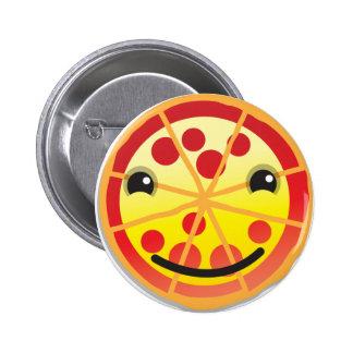 ¡salchichones lindos de la pizza! pin redondo de 2 pulgadas