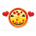 ¡salchichones lindos de la pizza! postal