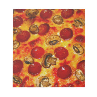 Salchichones y pizza de la seta libreta para notas