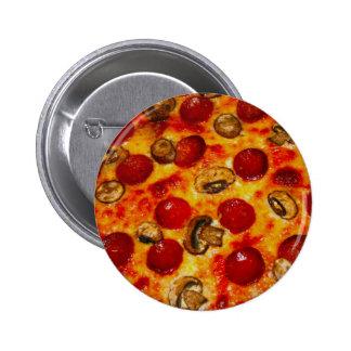 Salchichones y pizza de la seta pin