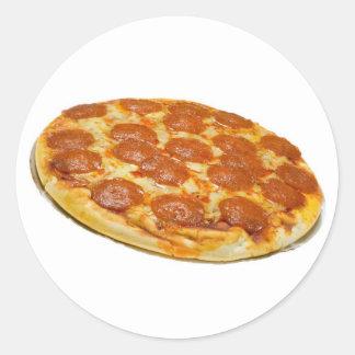 Salchichones y pizza de queso pegatina