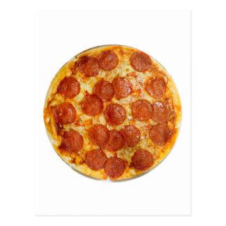 Salchichones y pizza de queso postal
