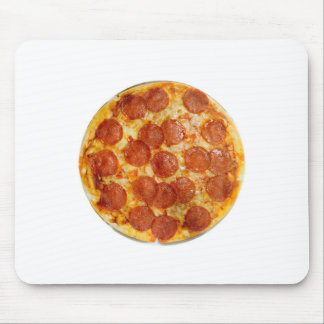 Salchichones y pizza de queso alfombrilla de raton