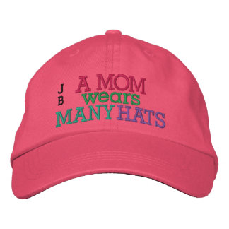 SALE! A MOM Wears Many Hats by SRF Embroidered Hat