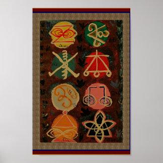 SALE Art Abstract Karuna Reiki Symbol Decorations