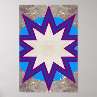 SALE Art Abstract STAR Chakra Symbol Decorations