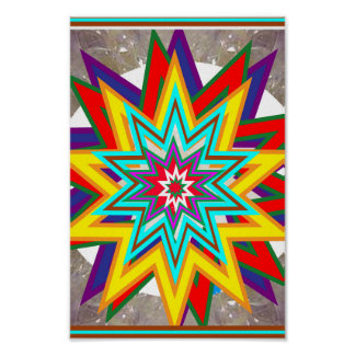SALE Art Abstract STAR Chakra Symbol Decorations