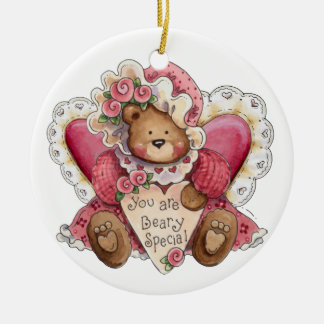 SALE!Beary Special - SRF Double-Sided Ceramic Round Christmas Ornament