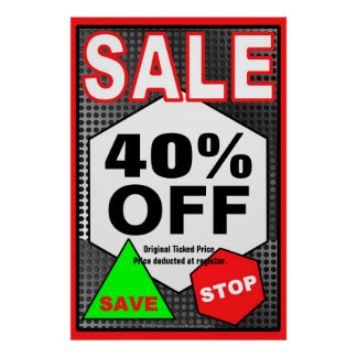 SALE Business Sign/poster template Poster