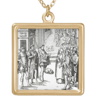 Sale by Town Crier, after a woodcut in 'Praxis Rer Necklace