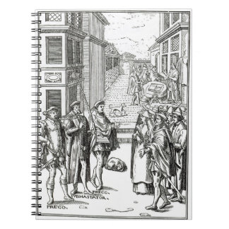 Sale by Town Crier, after a woodcut in 'Praxis Rer Notebook