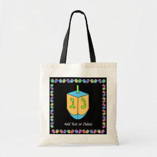 SALE! Chanukah (Hanukkah) Dreidel - SRF Budget Tote Bag