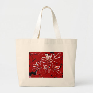 SALE - Christmas Shopper ~ Red Leaves in Snow Large Tote Bag