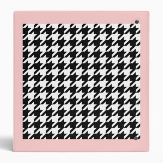 SALE - CLASSIC HOUNDSTOOTH CHECK BINDER