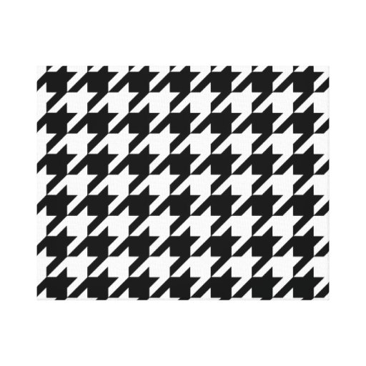 SALE - CLASSIC HOUNDSTOOTH WALL ART Wrapped Canvas Gallery Wrapped Canvas