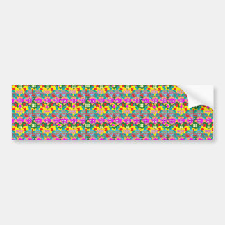 SALE Elegant Pink Flower Floral Abstract Art gifts Bumper Sticker