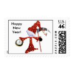 SALE - Father Time Happy New Year Stamp