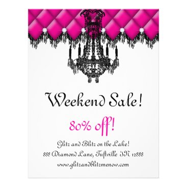 SALE Flyer Fashion Jewelry Pink Chandelier Tufted
