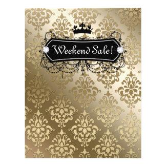 SALE Flyer Fashion Jewelry Salon Crown Gold