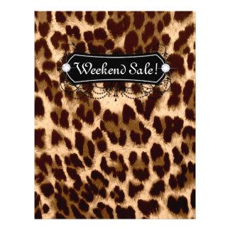 SALE Flyer Fashion Jewelry Salon Leopard