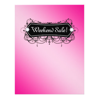 SALE Flyer Fashion Jewelry Salon Makeup Pink